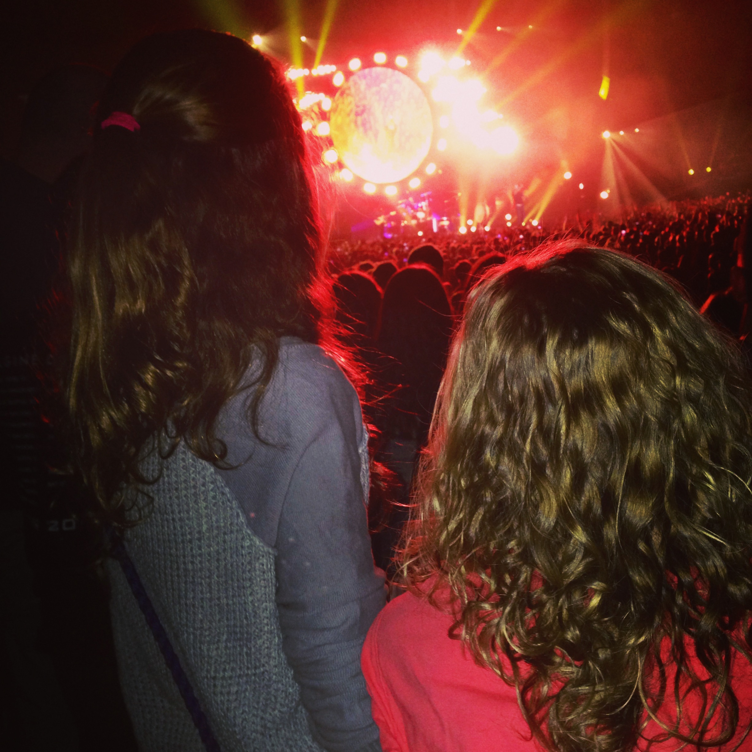 My girl (right) at her first concert with one of her besties: Imagine Dragons @ Allstate Arena