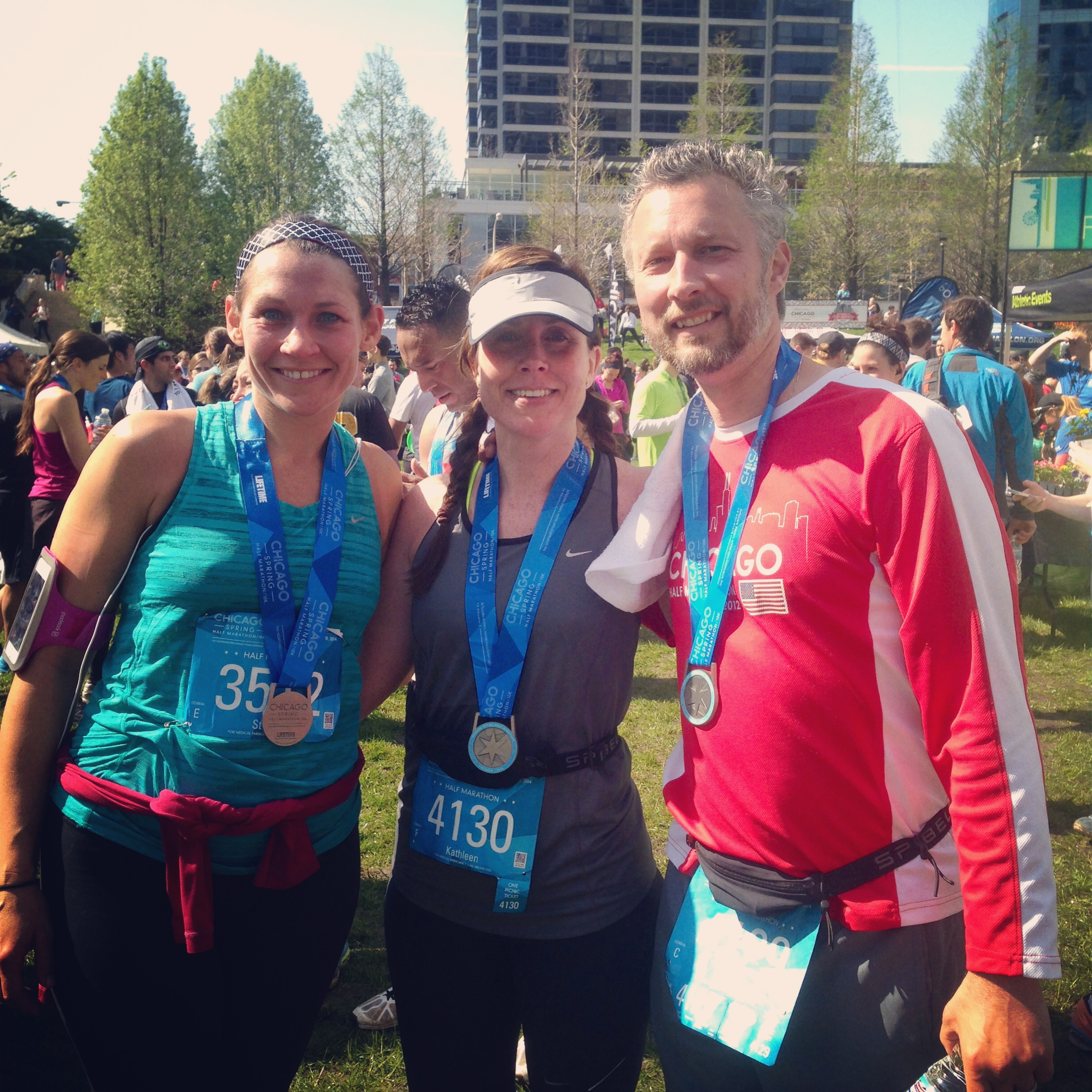 My awesome friend Stacie, me and my husband: PRs for each of us. What an amazing race!