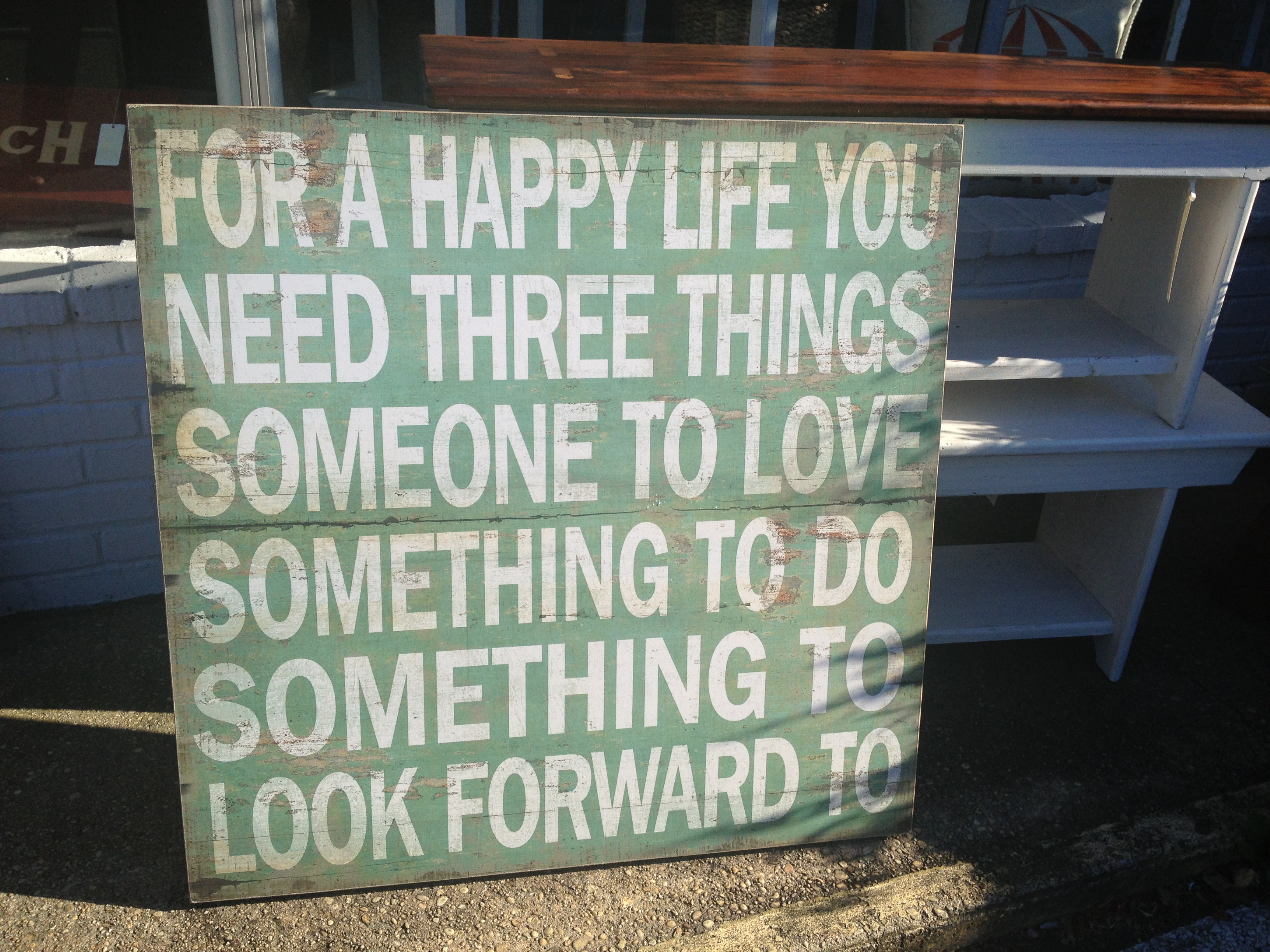 For a happy life